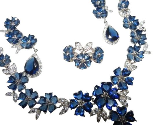 Other Stunning Sapphire Silver Fine Jewelry Set