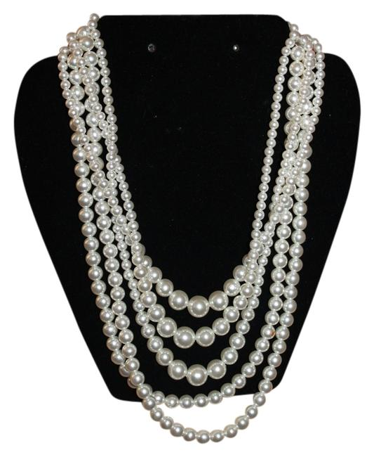 Item - Pearl Bead Vintage 5 Strand Convertable Necklace