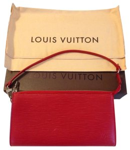 Louis Vuitton Red Epi Lv Rouge Clutch
