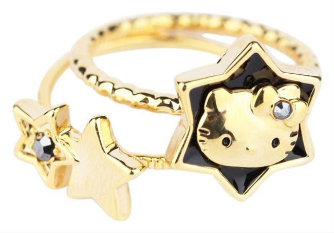 Item - Gold W Hello Kitty 2-pce Set: Rising Star New Tag Ring
