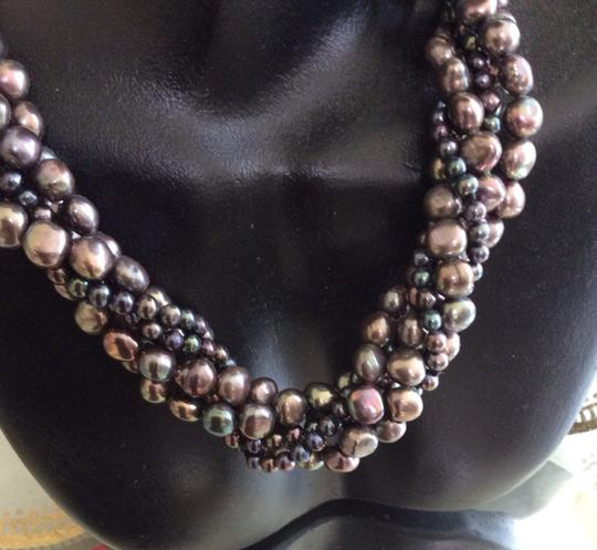 Other Multicolored Pearl Choker With 14k Gold Clasp