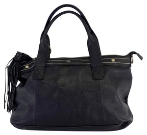 Cuore & Pelle Black Leather Hobo Bag