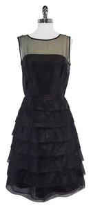 Marc Jacobs Black Layered Tiered Dress