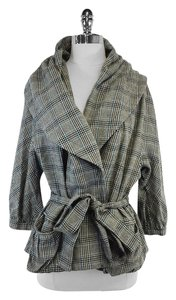 Marc Jacobs Grey Plaid Shawl Collar Jacket