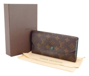 Louis Vuitton Emilie Long Wallet With Box Dust Bag Coin Card Checkbook