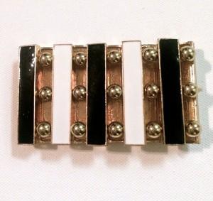 Other Black & White Rectangular-Shaped Stretch Bracelet
