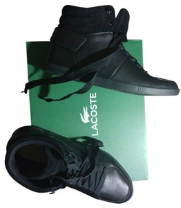 Lacoste Black Suede and Leather Athletic