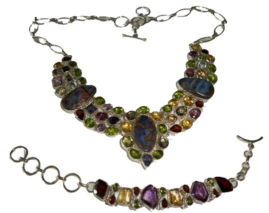 Other Multi Gemstone Fine Jewelry .925 Sterling Set Image 0