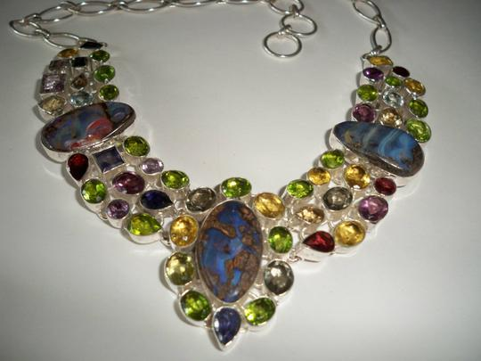 Other Multi Gemstone Fine Jewelry .925 Sterling Set Image 3