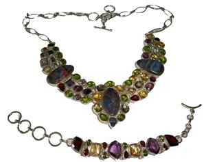 Multi Gemstone .925 Sterling Set