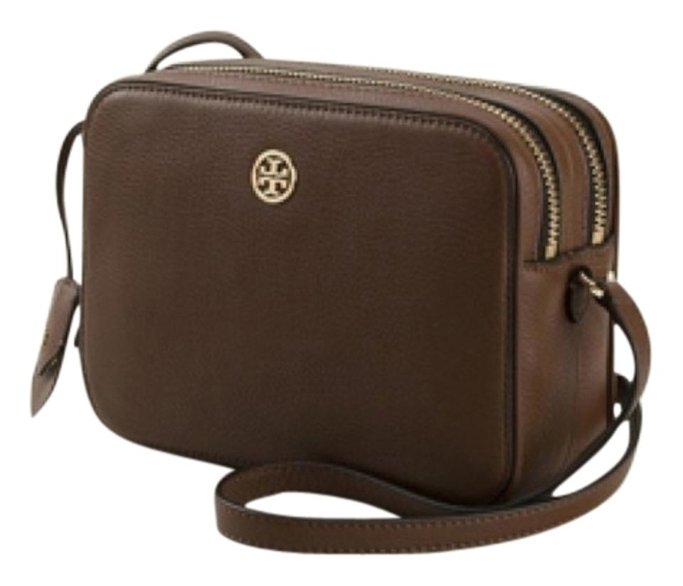 cca9da7d8 Tory Burch Robinson Pebbled Color Block Double Zip New with Tag Dark ...