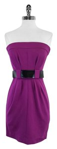 Trina Turk short dress Magenta Strapless Belted Belted on Tradesy