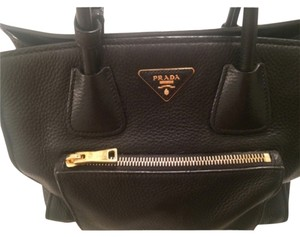Prada Cross Body Tote Satchel in black