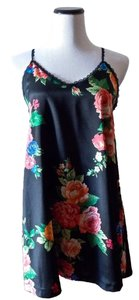 Honey Punch short dress Floral, Black Floral Fantasy Roses Tie Back on Tradesy