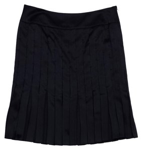 Magaschoni Black A Line Silk Skirt