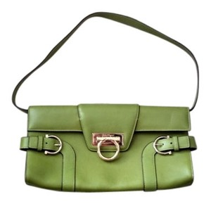 Salvatore Ferragamo Clutch Leather Shoulder Bag