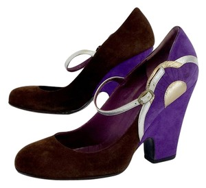 Marc Jacobs Brown Purple Suede Pumps