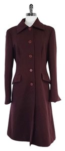 Alberta Ferretti Burgundy Wool Coat
