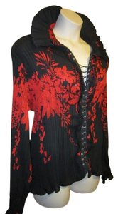 Dress U by Sharon Top Black/Red