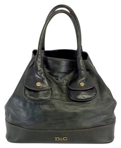 Dolce&Gabbana Patricia Olive Green Leather Tote
