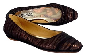 Badgley Mischka Bronze Black Sequin Flats