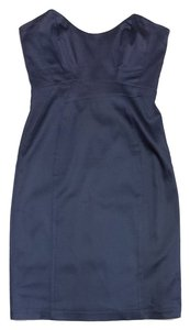 Laundry by Shelli Segal short dress Dark Cerulean Blue Strapless on Tradesy