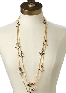 Lilly Pulitzer Double Chain Anchor Necklace