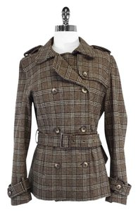 Mudo Collection Brown Plaid Wool Jacket