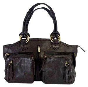 Treesje Dark Brown Leather Hobo Bag