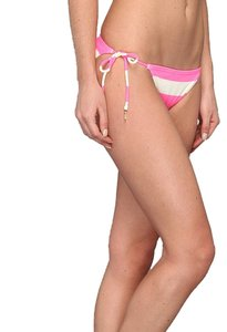 Juicy Couture Juicy Couture Classic String Bikini Bottom XS also fit S New with Tags Shel-shock Pink Stripe