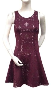 Nell Red Wine Sleeveless Dress