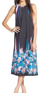 Black Maxi Dress by WAYF Floral Trapeze Midi Tie Dye Watercolor Print