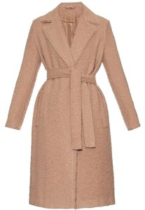 Helmut Lang Wool Teddy Bear Tan Fall Trench Coat