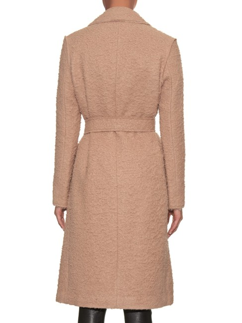 Helmut Lang Wool Teddy Bear Tan Fall Trench Coat Image 3