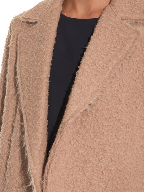 Helmut Lang Wool Teddy Bear Tan Fall Trench Coat Image 5