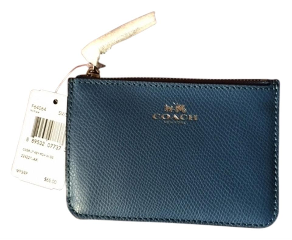 Coach blue change pursebusiness card holder wallet tradesy coach change pursebusiness card holder colourmoves