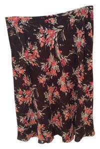 Ann Taylor LOFT Skirt Flower brown