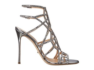 Sergio Rossi Giuseppe Zanotti Swarovski Crystal Puzzle Cage Open Toe Sandals Wedding Shoes