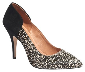 Madewell Two-tone Suede Leather Calf Calf Hair Leopard Pumps