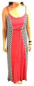 Pink w/ Black and White Stripes Maxi Dress by Bar III