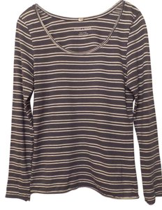 Anthropologie Pure + Good Knit Shirt Top Grey & White