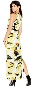 White, Yellow, Black Maxi Dress by Bar III Fun Trend Trendy