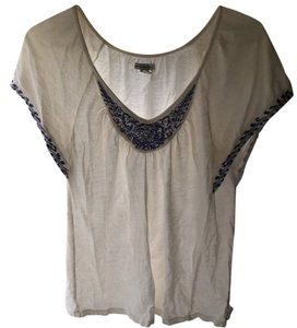 American Eagle Outfitters Top Ivory, blue