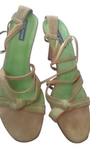 Ralph Lauren tan with green Sandals