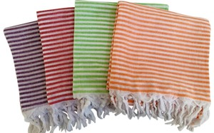 4 x 100% Cotton Fouta Peshtemal Pareo Sarong Towel Beach Pool Spa