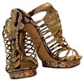 Brian Atwood New Stilletto Platform Ankle Strap Caged Ivory Black White Brown Pumps