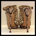 Brian Atwood New Stilletto Platform Ankle Strap Caged Ivory Black White Brown Pumps Image 4