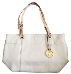 Michael Kors Tote in Cream, Tan, Gold