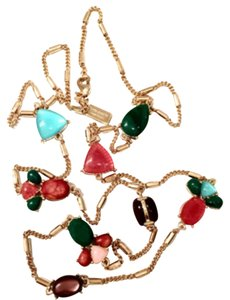 Kate Spade Multi Color Stones Stations Necklace