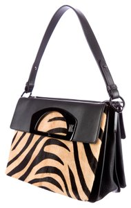 Christian Louboutin Pony Hair Zebra Print Cl Shoulder Bag